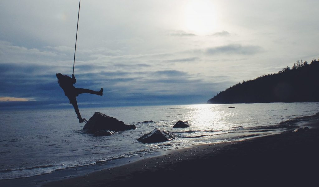 mystic beach rope swing