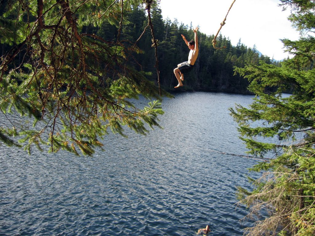 brohm lake rope swing