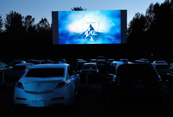 twilight drive-in movie theatre